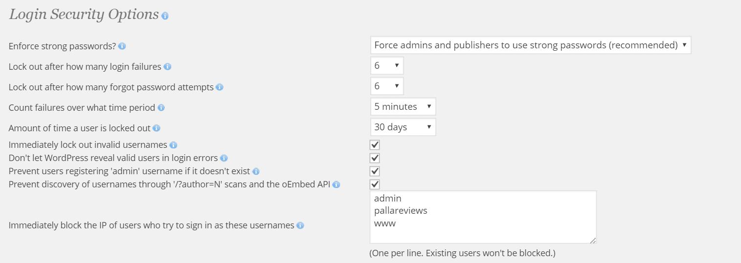 login security in wordpress